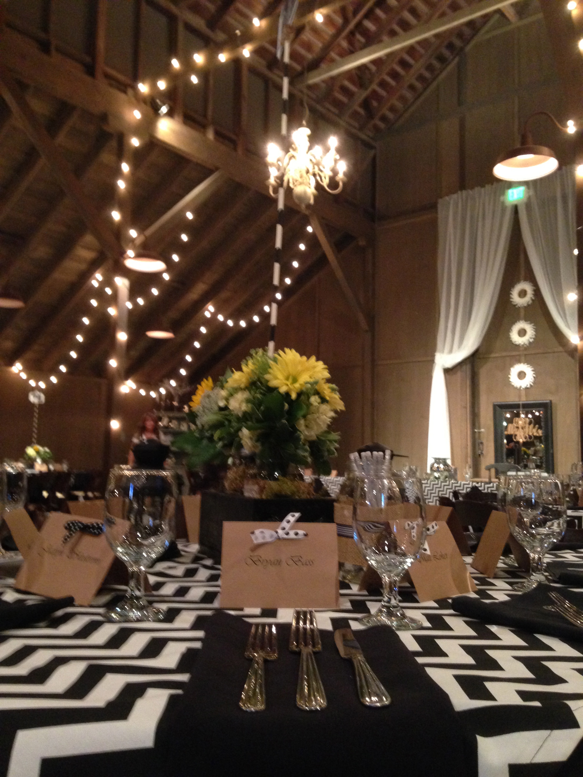 Black And White Wedding Field To Table Catering